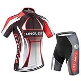 jngles Maillot Ciclismo Hombre Manga Corta Jersey(S~5XL,opción:Tirante,3D Cojín) N31