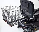 Folding Rear Basket for Pride Mobility Scooters & Powerchairs (Only Works with Scooters & Power Chairs Equipped with 1' x 1' Hitch Receiver)