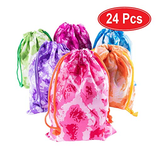 Super Z Outlet Tie-Dye Camouflage Drawstring Bags Party Favors, Arts & Crafts Activity (Assorted 24 Pack)