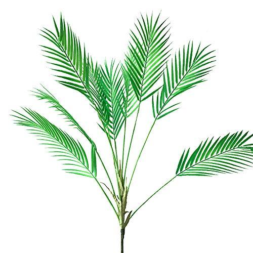 Aisamco Künstliche tropische Palmenblätter, künstliche Pflanze in Grün, 1 Stück, Kunststoff-Palme, 9 Blätter, 89,9 cm hoch, für tropische Grünpflanzen, Akzente, Blumenarrangements