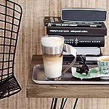 Villeroy & Boch - NewWave Latte Macchiato-Glas, 500 ml, 15 cm, trendiges Design, Kristallglas, Edelstahl, spülmaschinengeeignet - 2
