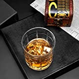 Homii Whisky Gläser, Whiskeygläser aus Kristall Set Geschenk, 2-teiliges,300ml - 4
