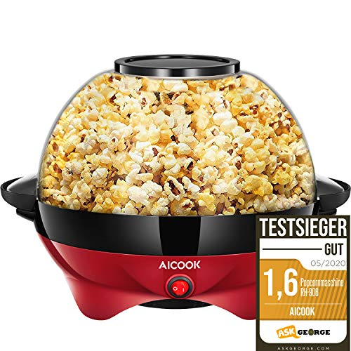 Aicook Machine à Popcorn, Électrique Machine à Pop...