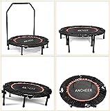 ANCHEER geneigtes Trampolin, Indoor Trampolin mit Haltegriff, Ideal für Fitness Heimtraining...