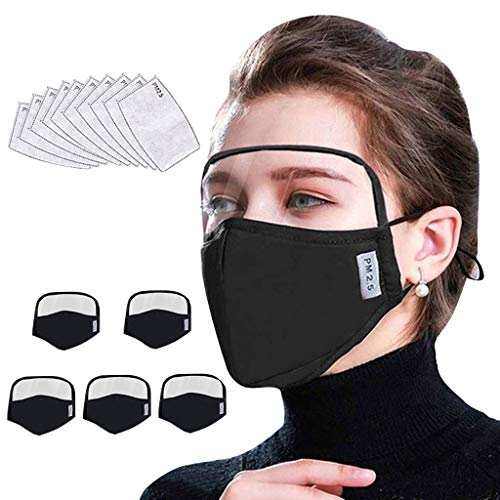 JSPOYOU Adult Outdoor Face Protective Face With Eyes Shield 5 + 10 Filters