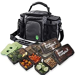 small Bear Komple X Insulated Lunch Bag for Food Management, Lunch Box Cooler Bag with 6 and 3 Compartments …