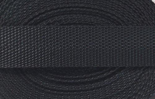 3 m PP Gurtband 20 mm schwarz