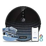 Maxcom MH11 - Aspirapolvere robot a umido e asciutto, con telecomando, APP, dispositivi Alexa, MH11, colore: Nero perla