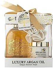 Gloss Argan Oil badset cadeauset 3-delig, 1-pack (1 x 880 g) geschenkdoos - badcadeau