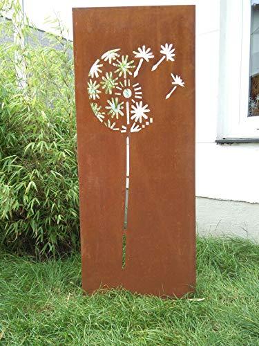 Zen Man Edelrost Garten Sichtschutz aus Metall 1mm Rost Gartenzaun (Gartendeko edelrost) Sichtschutzwand 031651 H150*50cm
