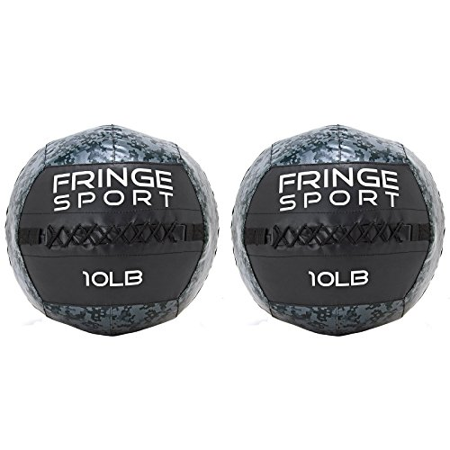 Fringe Sport 10lb Medicine Ball Pairs/Weighted Wall Ball/Strength and Conditioning Equipment