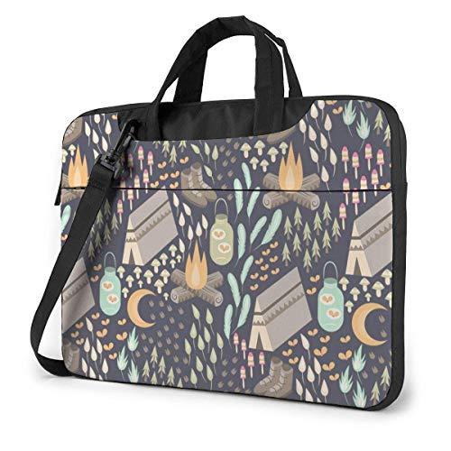 Laptop Shoulder Bag Carrying Laptop Case, Camp Pattern Computer Sleeve Cover, Business Briefcase Protective Bag