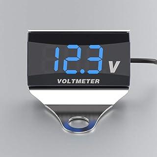 Sangmei Voltímetro digital para motocicleta DC 10-150V Display LED à prova d'água testador de voltagem Indicador de monito...