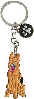 Dog ID Tag,Cute Metal Dog Puppy ID Tag Keychain Keyring Keyfob Car Bag Charm Dog Tag Chains Birthday Christmas Gift (German Shepherd Dog)