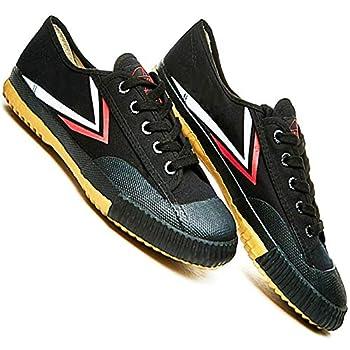 T.O.P ONE Kung Fu Martial Arts Parkour Shoes,Rubber Sole Sneakers-Black 46 Men 12|Women 13