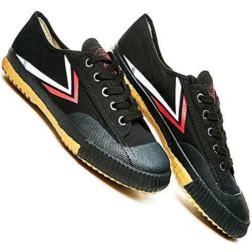 T.O.P ONE Kung Fu Martial Arts Parkour Shoes,Rubber Sole Sneakers-Black 46(Men 12|Women 13)