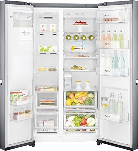 LG 668 L Frost-Free Side-by-Side Refrigerator (GC-L247CLAV, Platinum silver3,Inverter Compressor)