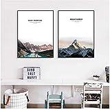 A&D Nordischen Stil Rocky Mountain Peak Poster Minimalismus