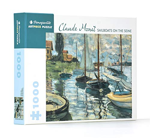 Claude Monet Sailboats on the Seine 1000 Piece Jigsaw Puzzle Aa973