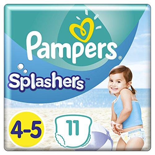 Pampers Einweg-Schwimmwindeln Splashers Größe 4-5 (9-15 kg) für optimalen Schutz im Wasser, 11 Windeln