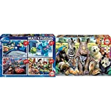 Educa Pixar Disney Conjunto De Puzzles Progresivos, Multicolor (15615) + Foto De Clase, Puzzle Infantil De 300 Piezas, A Partir De 8 Años (15908)