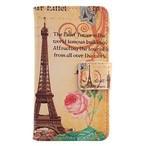 Lankashi PU Flip Leder Tasche Hülle Hülle Cover Schutz Handy Etui Skin Für Doogee Voyager2 Dg310 Yellow Tower Design