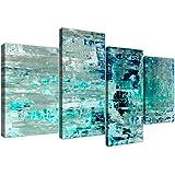 Wallfillers 4333 - Lienzo decorativo para pared, diseño abstracto, color turquesa