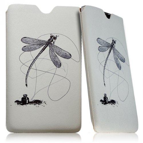 Seluxion Schutzhülle mit Libellenmotiv Universal Tasche für Asus VivoTab Smart ME400C (10,1 Zoll, 1B016W