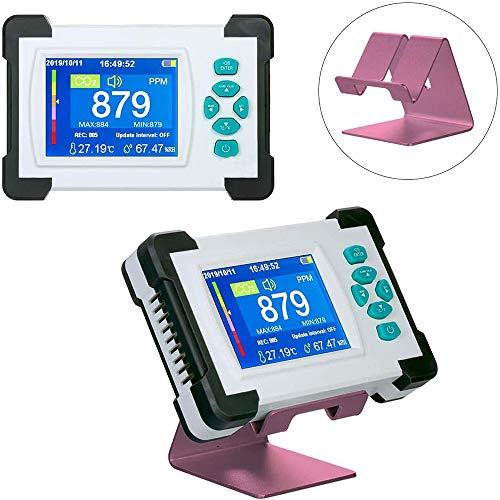 LI MING SHOP Detector De CO2 Pantalla A Color Portátil Temperatura Humedad Relativa Monitor De Dióxido De Carbono 0-9999 PPM Alta Precisión