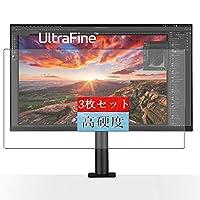 3枚 Sukix フィルム 、 LG UltraFine Ergo 32UN880 31.5インチ ディスプレイ モニター 向けの 液晶保護フィルム 保護フィルム シート シール(非 ガラスフィルム 強化ガラス ガラス )