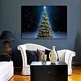 SADHAF Árbol de Navidad Pintura Lienzo Impreso Invierno Nieve Paisaje Pintura Habitación familiar Decoración de la pared A1 30x40cm