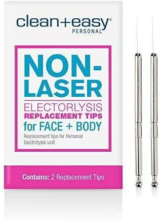 Clean & Easy Electrolysis Replacement Stylets 2 replacement tips
