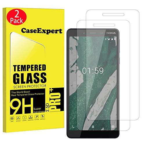 CaseExpert 2 Pack - Nokia 1 Plus Pellicola Protettiva, Vetro Temperato, Pellicola Protettiva, Protezione per Schermo per Nokia 1 Plus