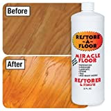 floor polish wood - Restore-A-Floor Floor Finish - Wood Floor Polish and Hard Wood Floor Wax to Rejuvenate Floors Including Marble Floors, Vinyl Floors, and Laminate Floors