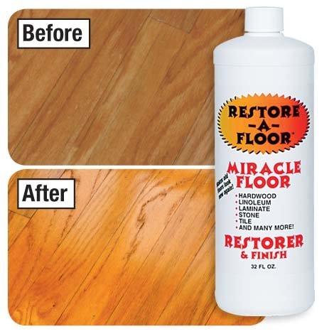 Restore-A-Floor Floor Finish - Wood Floor Polish and Hard Wood Floor Wax to Rejuvenate Floors Including Marble Floors, Vinyl Floors, and Laminate Floors