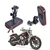 Soporte de montaje para motocicleta, impermeable, soporte para bicicleta, soporte para manillar de motocicleta, soporte universal para smartphone de hasta 5.3 a 6.2 pulgadas