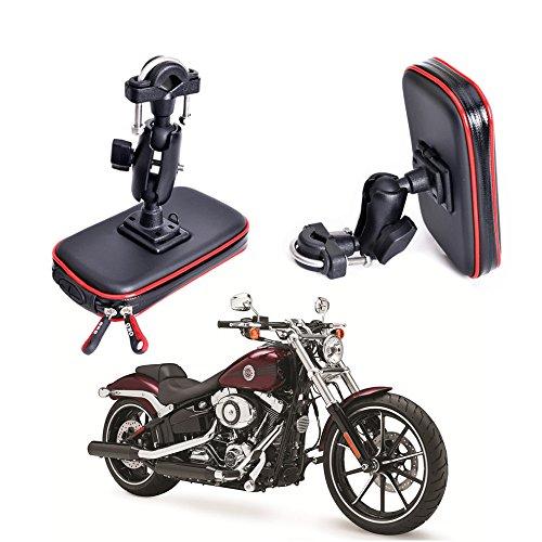 Soporte de montaje para motocicleta, impermeable, para GPS, soporte universal para teléfono móvil de hasta 5.3 a 6.2 pulgadas