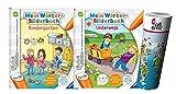 tiptoi -Set: Mein Wörter-Bilderbuch Kindergarten + Mein Wörter-Bilderbuch Unterwegs, a partir de 3 años + Wimmeltkarte