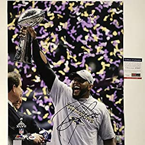 Autographed/Signed Ray Lewis Baltimore Ravens 16x20 Football Photo PSA/DNA COA #4