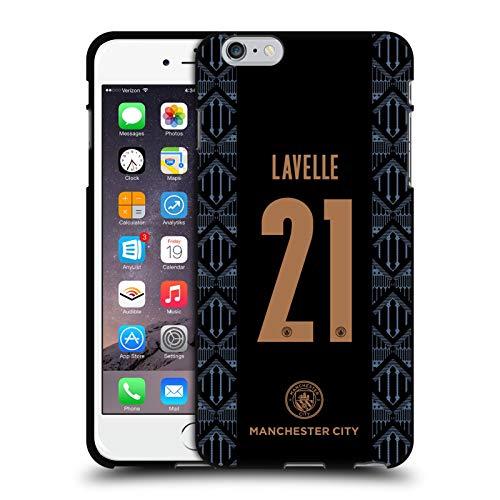 Head Case Designs Oficial Manchester City Man City FC Rosa Lavelle 2020/21 Funda de Gel Negro Compatible con Apple iPhone 6 Plus/iPhone 6s Plus