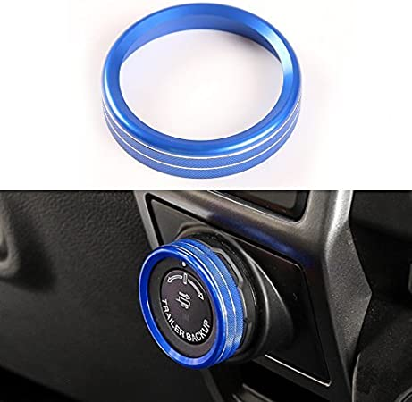 BORUIEN Black Trailer Switch Knob Ring Cover Frame Trim for Ford F150 XLT 2016 2017