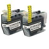 LC3213 Tintenpatronen für Brothers, hohe Ergiebigkeit, Tintenstrahldrucker-Patrone, Ersatz für DCP-J772DW J774DW MFC-J890DW J895DW kompatibel, Schwarz, 2 Stück