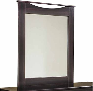 Aprodz Sheesham Wood Agapi Dresser Decorative Mirror Frame| Wooden Mirror | Brown Finish