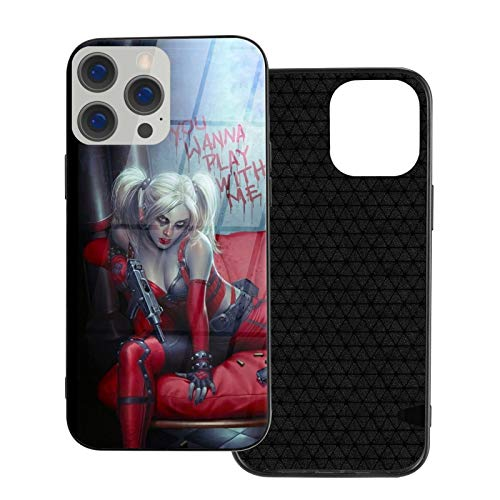 meiystyle iPhone 12-6.1 Series Mobile Phone Case Printing Anti-Scratch Shockproof Mobile Phone Protective Shell Silicone Protective Cover Black,Harley Quinn -3