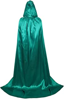 Cloak with Hood Cape Hooded Costumes Halloween Velvet Satin Party Masquerade Christmas