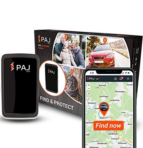 PAJ GPS Allround Finder 2020 GPS - Localizzatore gps per auto, moto, anziani, bambini e molto più - Gps tracker in tempo reale - Antifurto per auto - Marca tedesca - Pulsante SOS per emergenza