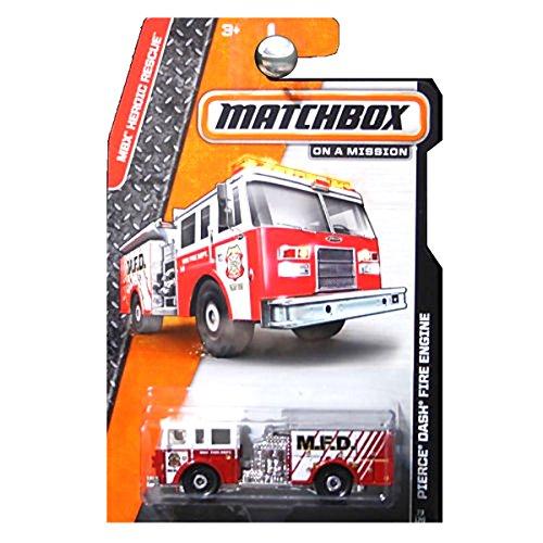 Matchbox, 2015 MBX Heroic Rescue, Pierce Dash Fire Engine [Red] 62/120