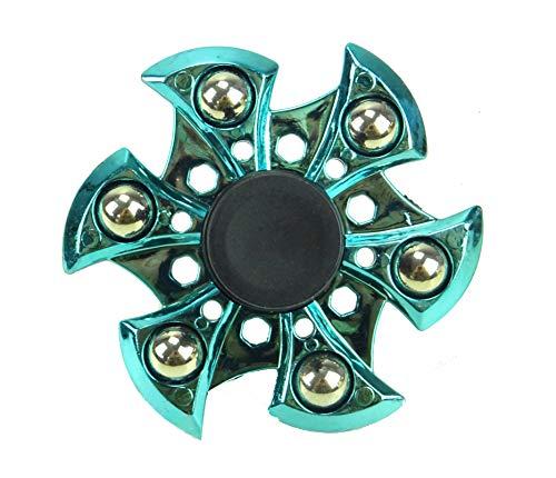 TOYLAND Spinarooz Hand Spinner Novelty Toy - Fidget Spinner - 3 en 1 - Salto, Rebote, Giro (Azul)