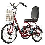 Dreirad Für Erwachsene 20 Zoll 3-Rad Für Erwachsene Fahrrad Trike Cruiser Bike Behindertenrad...