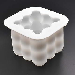 قالب لتشكيل الشمع يدويًا وصب الجبس - 1 قطعة - قالب سيليكون مناسب لصنع شمع الصويا وشموع العلاج بالعطور - 6 × 6 × 6 سم